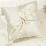 Ivory Sash Ring Pillow