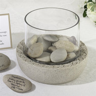 Glass Vase Guest Book for Signing Stones