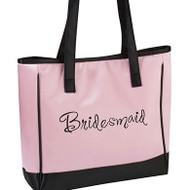 """Pink """"Bridesmaid"""" Tote Bag"""