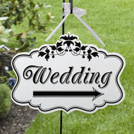 Wedding Double-Sided Direction Sign