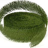 Green Leaf Burlap Ribbon (10 Yards)
