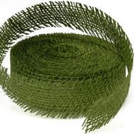 Green Leaf Burlap Ribbon (10 Yards)