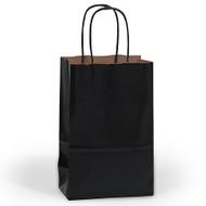 DIY Black Paper Mini Gift Bag (Welcome Bag)