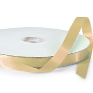 Gold Double Faced Satin Ribbon (100 Yards)