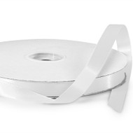 White Double Faced Satin Ribbon (100 Yards)