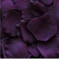 Eggplant / Deep Purple Silk Petals {Package of 100}
