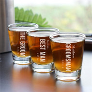 Personalized Shot Glass for the Groom and His Guys