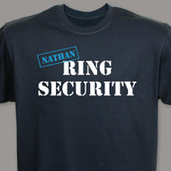 "Personalized ""Ring Security"" T-Shirt in Black PRO-37647X_BLK"