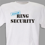 "Personalized ""Ring Security"" T-Shirt in White"