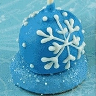 Hand Decorated Mini Snowflake Cake Pop