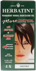 Herbatint 4N Chestnut Permanent Herbal Hair Colour Gel 135ml