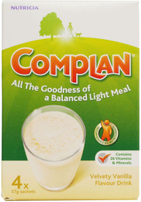 Complan Vanilla Flavour Nutritional Drink - 4 x 57g Sachets