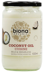 Biona Organic Coconut Oil Cuisine - Mild & Odourless - 610ml