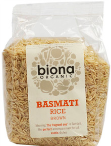 Biona Organic Rice Basmati Brown Rice - 500g