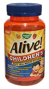 Nature's Way Alive! Children's Soft Jells Multivitamin - 60 Chewables