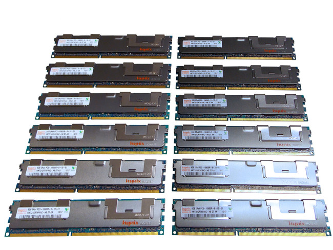 Dell 25PXJ Memory 96GB PC3-10600R (12x8GB) 2Rx4 12 Pack
