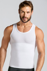 Leo Extra Firm Control Tank 035013 White from Topdrawers Underwear for Men - Large View