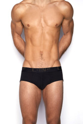 001 Black - C-IN2 Core Profile Brief 4003  - Front View - Topdrawers Underwear for Men