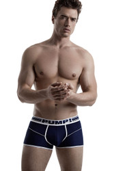Navy - PUMP! Free-Fit Boxer 11069 - Front View - Topdrawers Underwear for Men