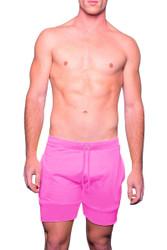 Deep Pink - Go Softwear Cal Guy Dock Short 4661 - Front View - Topdrawers Menswear