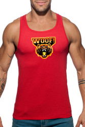 06 Red - Addicted Woof Tank Top AD603 - Front View - Topdrawers Menswear