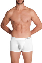1N White - Obviously PrimeMan Boxer Brief 3 Inch Leg A00 - Front View - Topdrawers Underwear for Men