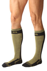 Army - CellBlock 13 Full Throttle Knee High Sock A056 - Side View - Topdrawers Underwear for Men