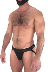 Black - Nasty Pig Advance Jock 5592 - Side View - Topdrawers Underwear for Men