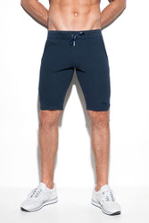 09 Navy - ES Collection Cotton Knit Knee Pant SP177 - Front View -  Topdrawers Menswear