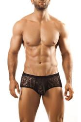 Black Lace - Joe Snyder Bulge Boxer JSBUL-03 - Front View - Topdrawers Underwear for Men