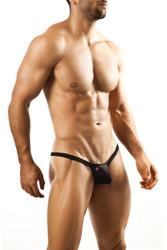 Black - Joe Snyder Bulge Thong JSBUL-02 - Front View - Topdrawers Underwear for Men