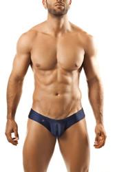 Navy - Joe Snyder Mini Cheek Thong JS22 - Front View - Topdrawers Underwear for Men
