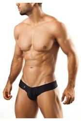 Black - Joe Snyder Mini Cheek Thong JS22 - Front View - Topdrawers Underwear for Men