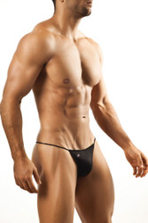 Black - Joe Snyder G-String JS02 - Front View - Topdrawers Underwear for Men
