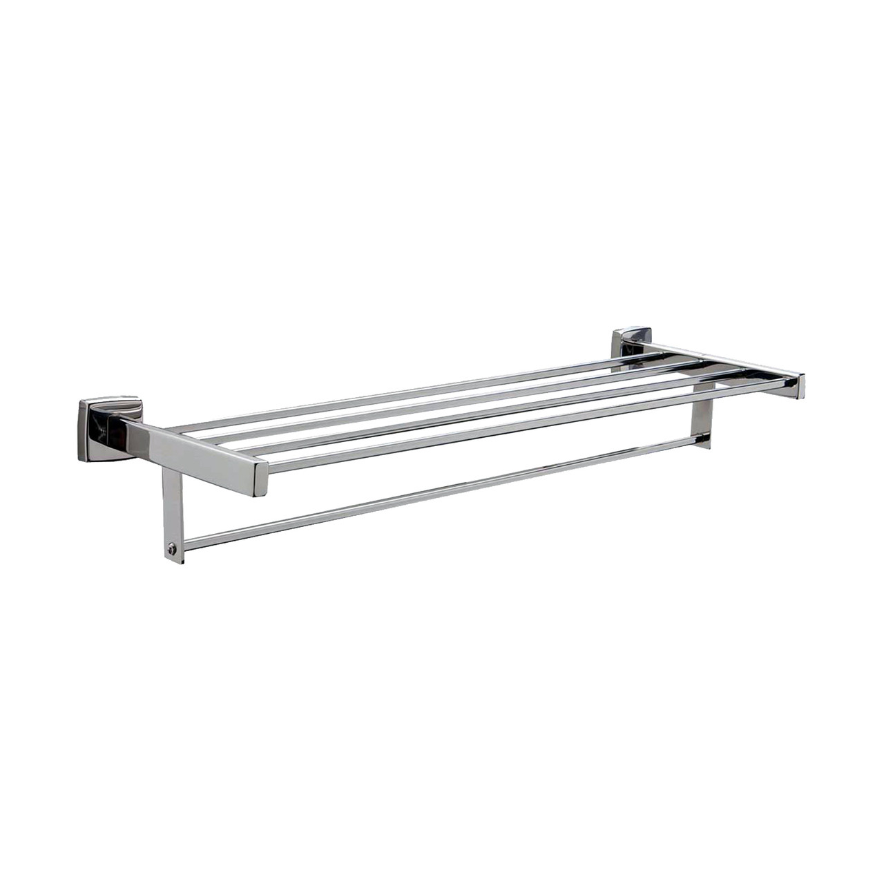 Bobrick B-676x24 - Surface Mounted Towel Shelf with Towel Bar 24 ...