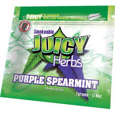 Juicy Jay Purple Spearmint Flavor Herbal Blend - 0.25oz Pouch