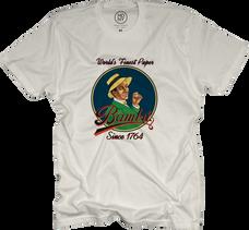 Bambu White Color T-Shirt with Bambu Man Logo Design - Large