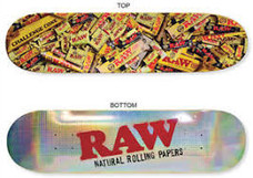 Raw Rainbow Holo Foil Skateboard Deck