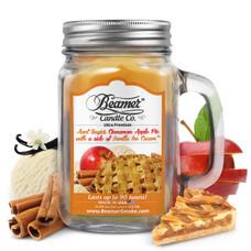 Aunt Suzie's Cinnamon Apple Pie with a side of Vanilla Ice Cream 12oz Candle-Cinnamon