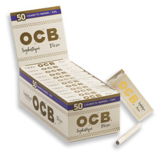 OCB Sophistique Flax Ultra Thin 1 ¼ Size Rolling Papers With Tips