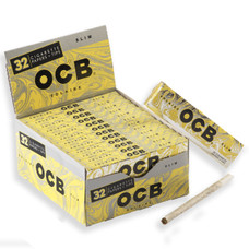 OCB Solaire King Size Flax Ultra Thin Rolling Papers With Tips
