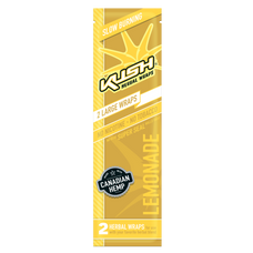Kush Lemonade Flavor Herbal Hemp Wraps - 2 Count Packs