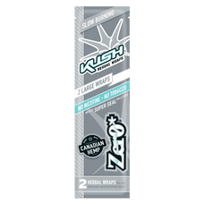 Kush Zero Flavor Herbal Wraps - 2 Count Packs
