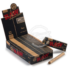 Raw Black 1 ¼ Size Rolling Papers