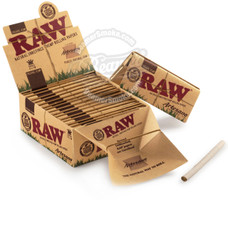 Raw Organic Artesano King Size Rolling Papers with Rolling Tips and Tray