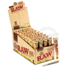 Raw Organic King Size Pre-Rolled Cones - 3 Count Packs