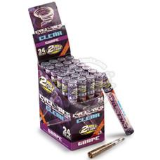 Cyclones Grape Flavor Transparent Cones - 2 Count Packs