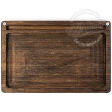 "Beamer Ace Bamboo Rolling Tray, Original Finish - 14"" x 9.5"""