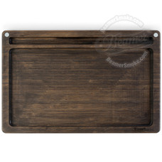 "Beamer Ace Bamboo Rolling Tray, Dark Finish Finish - 14"" x 9.5"""