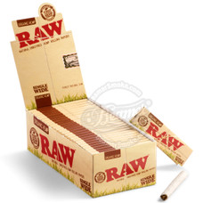 Raw Organic Single Wide Size Rolling Papers - Single Feed
